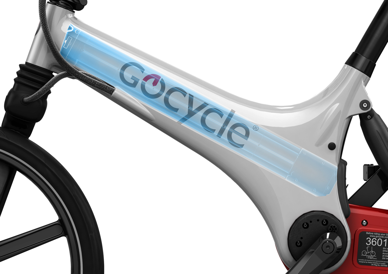 Gocycle GS frame and battery image